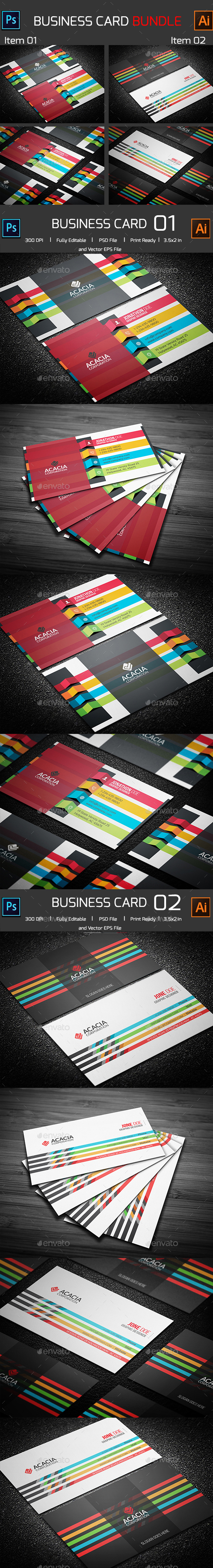 Bundle- 2 in 1 Business Card_10 - Corporate Business Cards