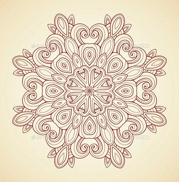 Mandala in Indian Style - Decorative Symbols Decorative