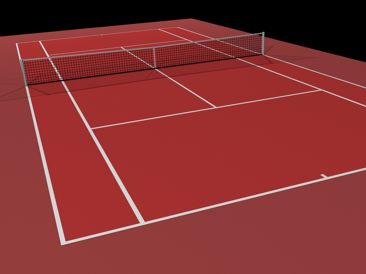 Tennis Series Low Poly Tennis Court By Equilibriumdc