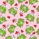 Sweet Seamless Pattern With Frogs - GraphicRiver Item for Sale