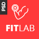 FITLAB - Fitness, GYM & Health PSD Template Nulled