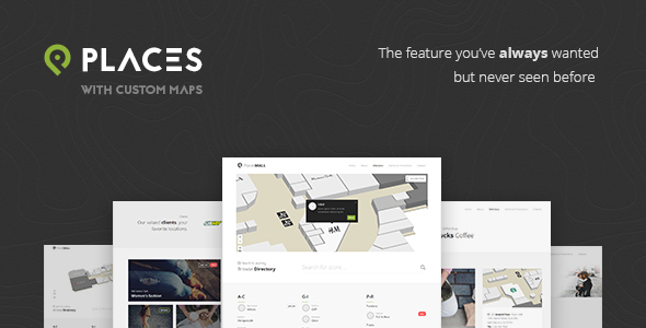 Places – Custom Interactive Map HTML5 Template