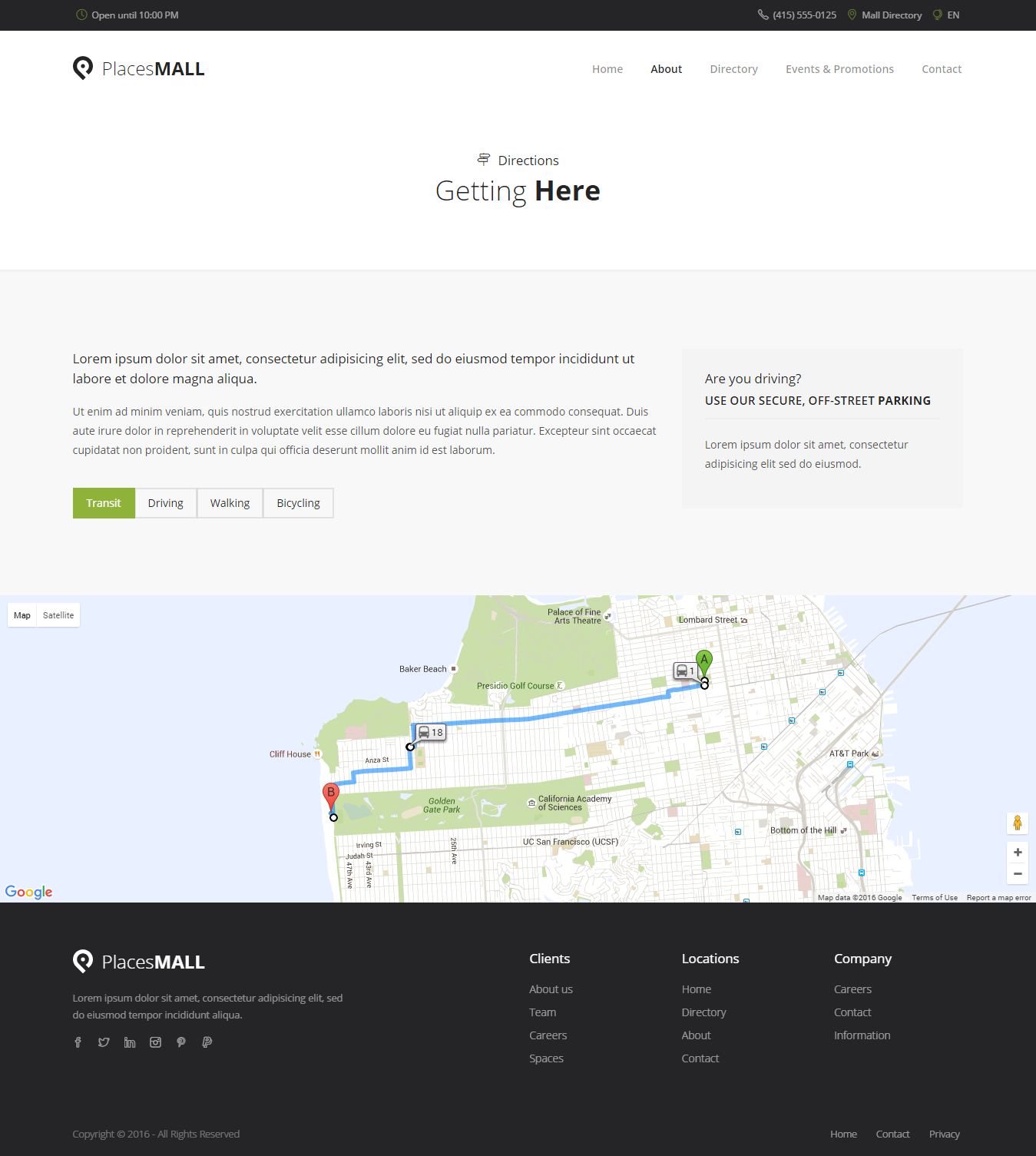 Places Custom Interactive Map HTML Template By Sekler ThemeForest - Interactive us map html5
