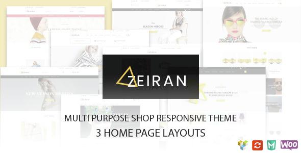 Zeiran - Multipurpose Responsive WooCommerce Theme