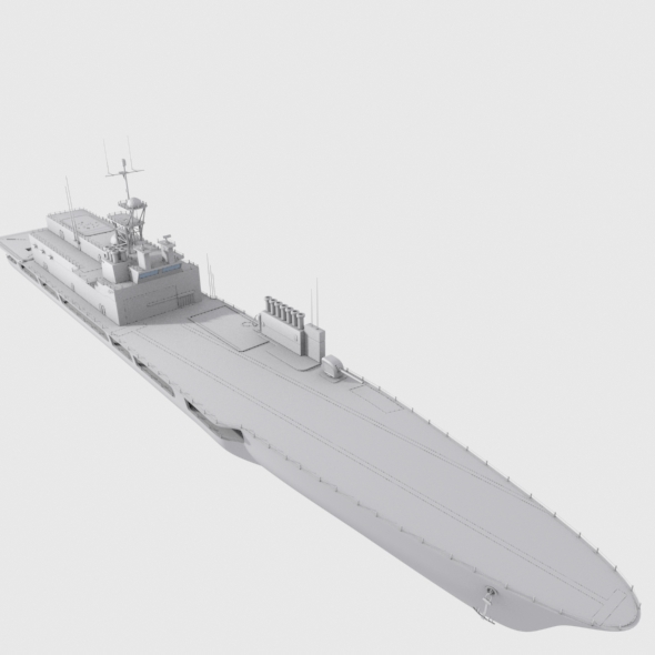 Highly Detailed Ship ''USA DD 963'' Model