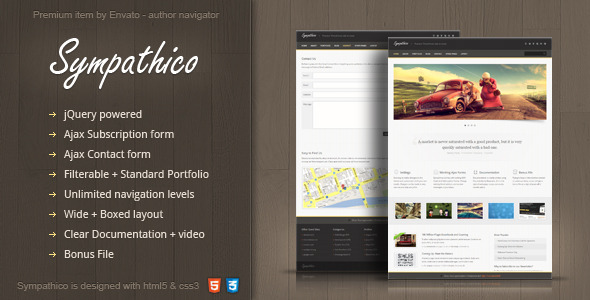 Sympathico – multipurpose site template