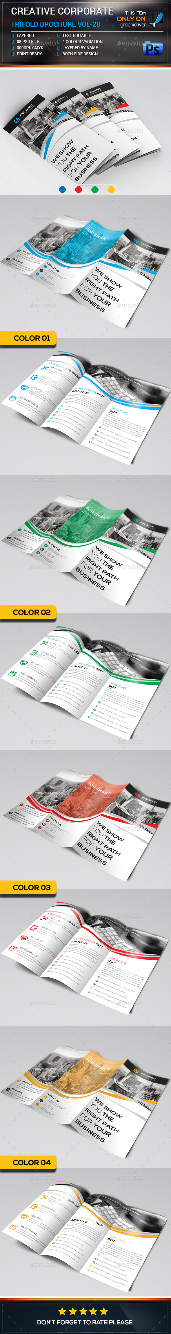 Creative Corporate Trifold Brochure Template - Brochures Print Templates