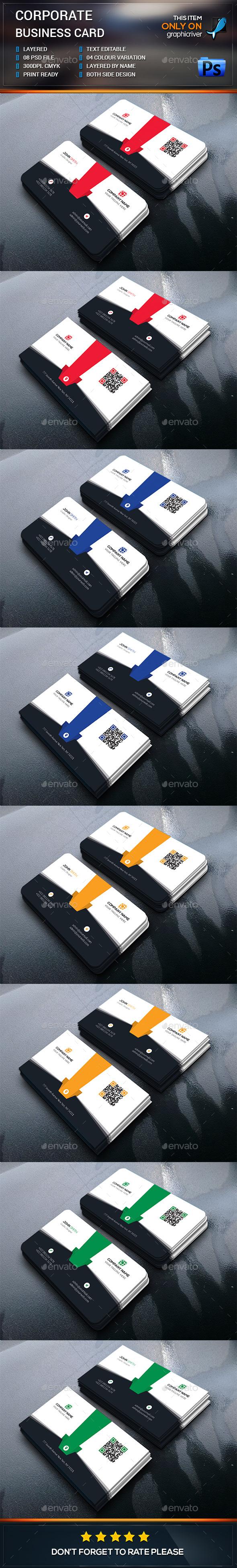 Corporate Business Card Design - Business Cards Print Templates