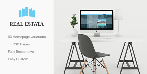REAL ESTATA - Real Estate PSD Theme - Business Corporate