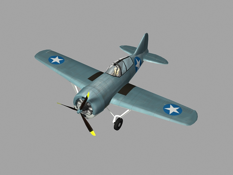 Brewster F2a Buffalo 3ds Max Model Of Ww2 Aircraft By