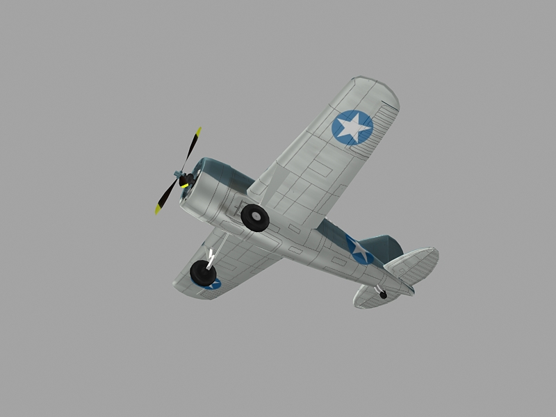 Brewster F2A Buffalo 3ds max model of WW2 aircraft by djnick | 3DOcean