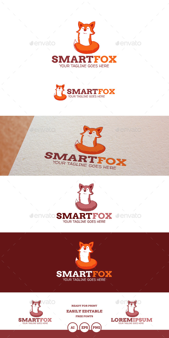 SmartFox Logo - Animals Logo Templates