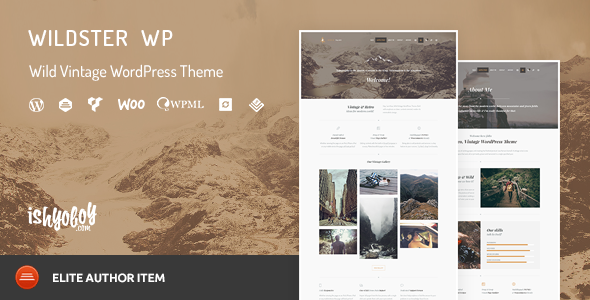 Wildster WP – Wild Vintage WordPress Theme