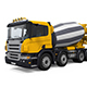 3D Truck Concrete Mixer - GraphicRiver Item for Sale