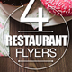 Restaurant Flyer Bundle - GraphicRiver Item for Sale