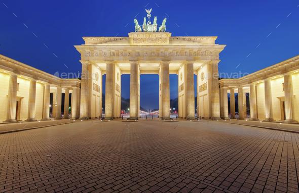 The Brandenburger Tor in Berlin  - Stock Photo - Images