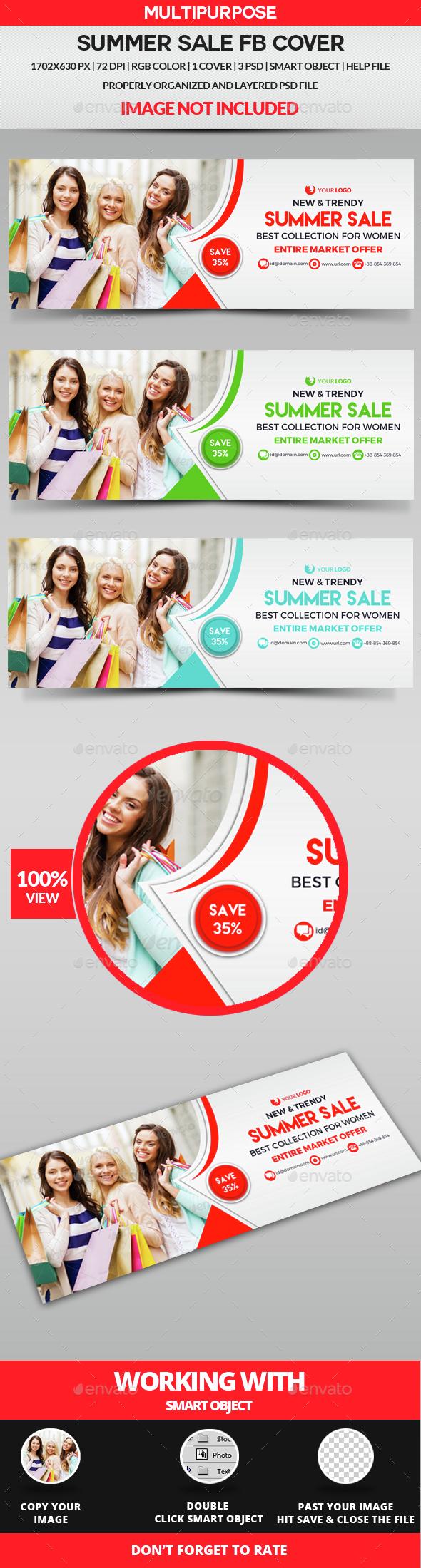 Summer Sale Facebook Cover - Facebook Timeline Covers Social Media