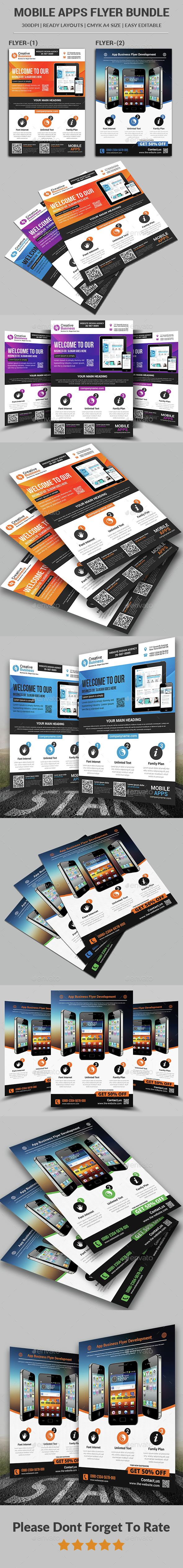 App Flyer Bundle - Corporate Flyers