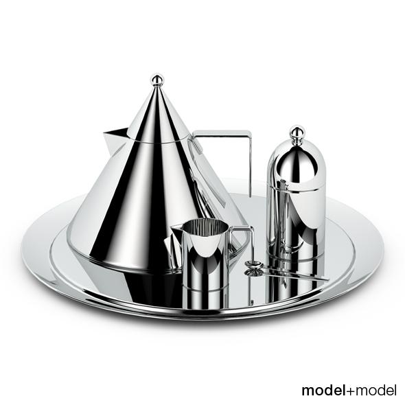 Alessi Il Conico Tea Set By Modelplusmodel 3docean
