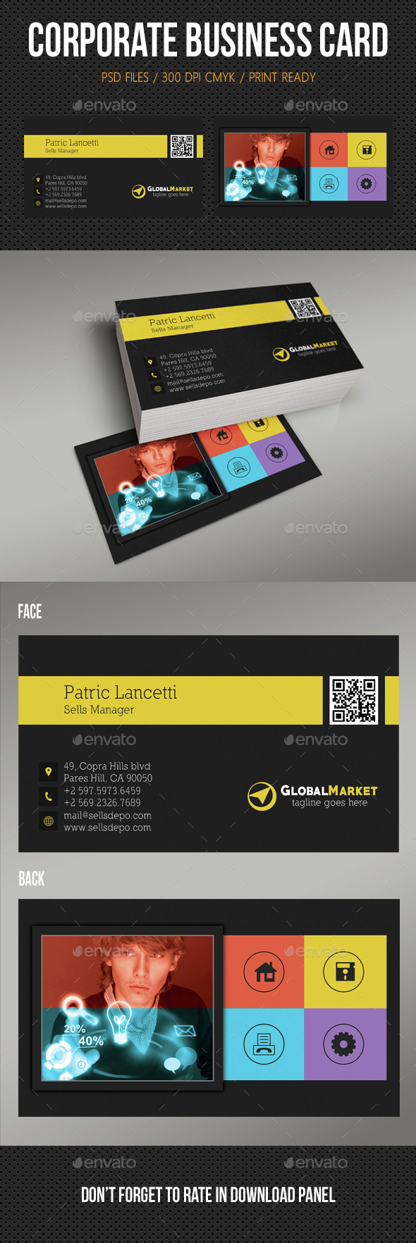 Metro Business Card 02 - Corporate Business Cards
