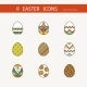 Vector Collection Of Cute Easter Icons - GraphicRiver Item for Sale