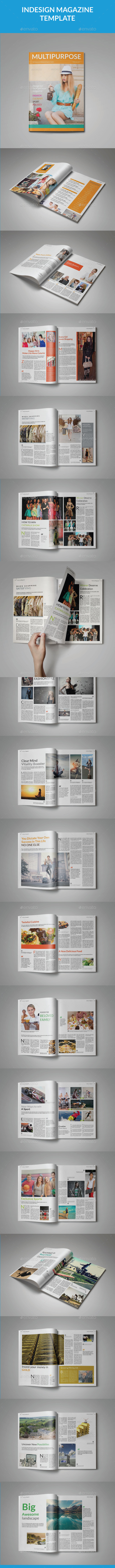 A5 Universal Magazine Template - Magazines Print Templates