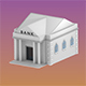 Low Poly Bank Building - 3DOcean Item for Sale