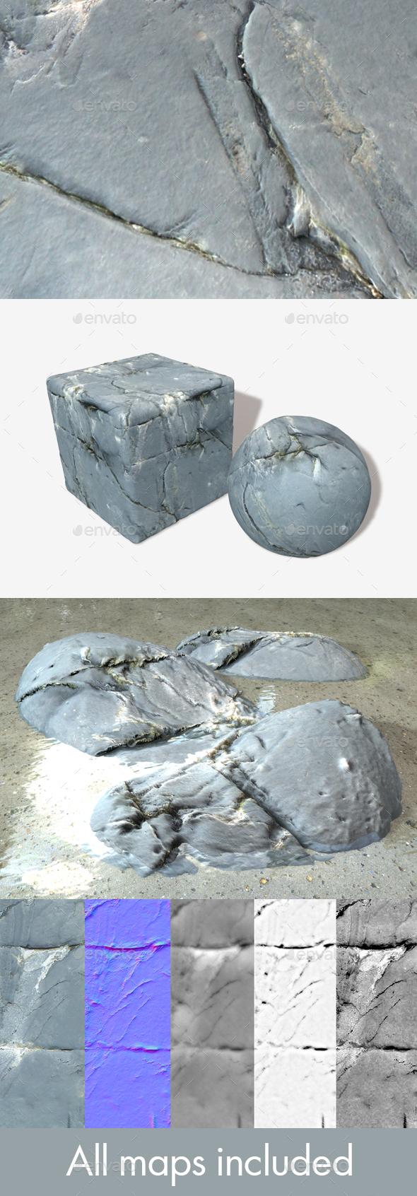 Ocean Rock Seamless Textures - 3DOcean Item for Sale