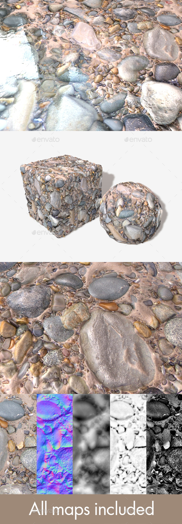 Rockpool Seamless Texture - 3DOcean Item for Sale