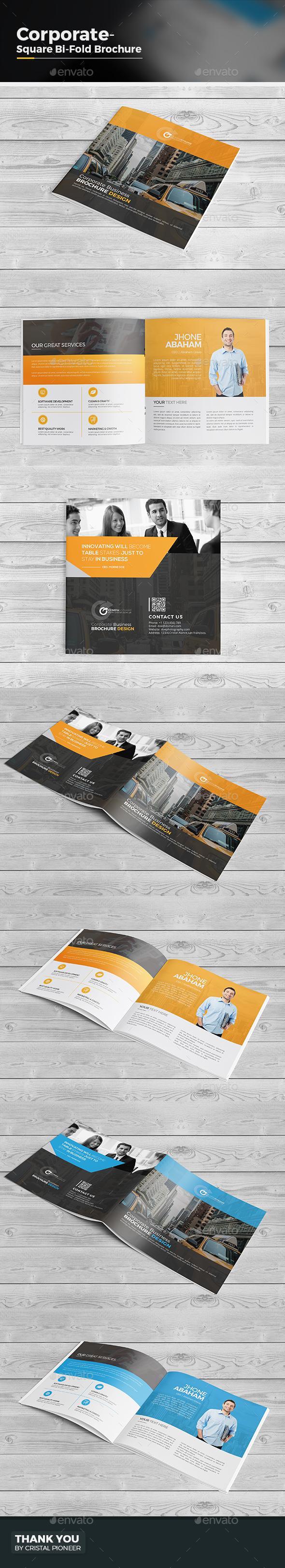 Bi Fold Square Brochure - Corporate Brochures