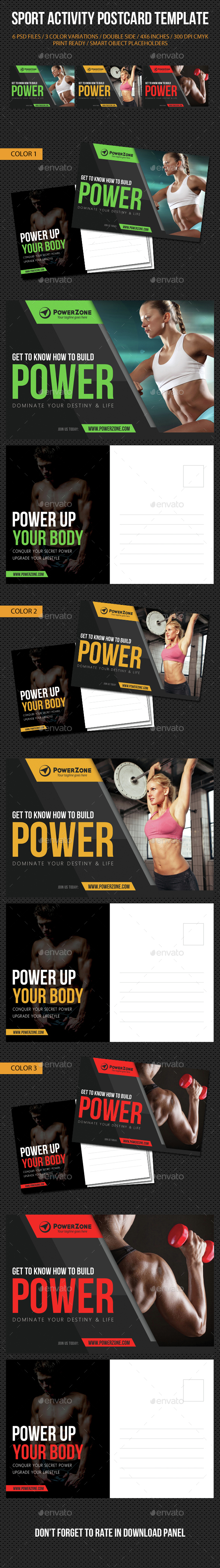 Sport Activity Postcard Template V11 - Cards & Invites Print Templates