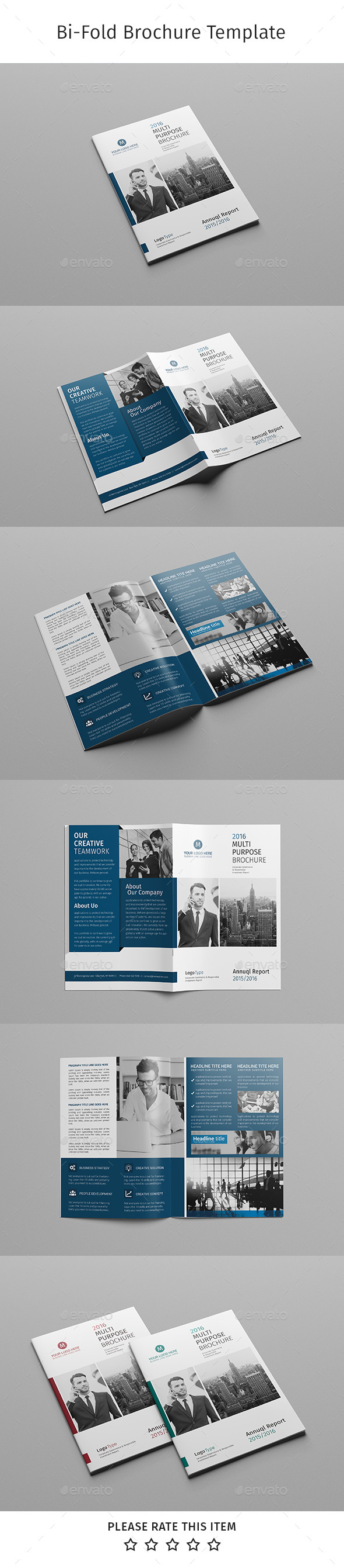 Corporate Bi-fold Brochure-Multipurpose 06 - Corporate Brochures