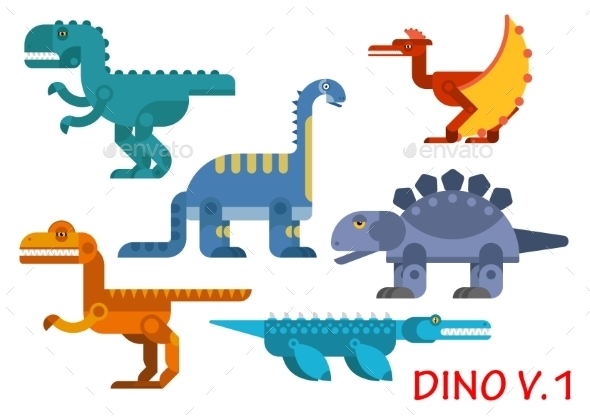 Prehistoric Dinosaurs of Jurassic Period - Animals Characters