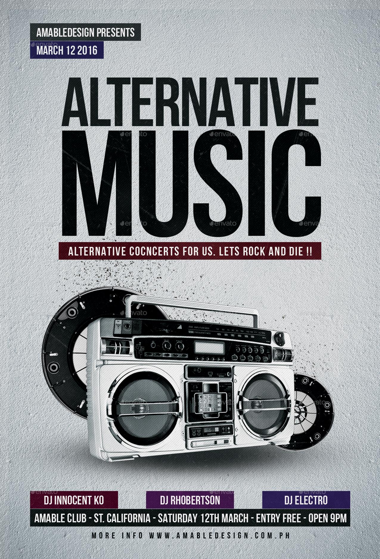 Alternative Music Flyer/Poster