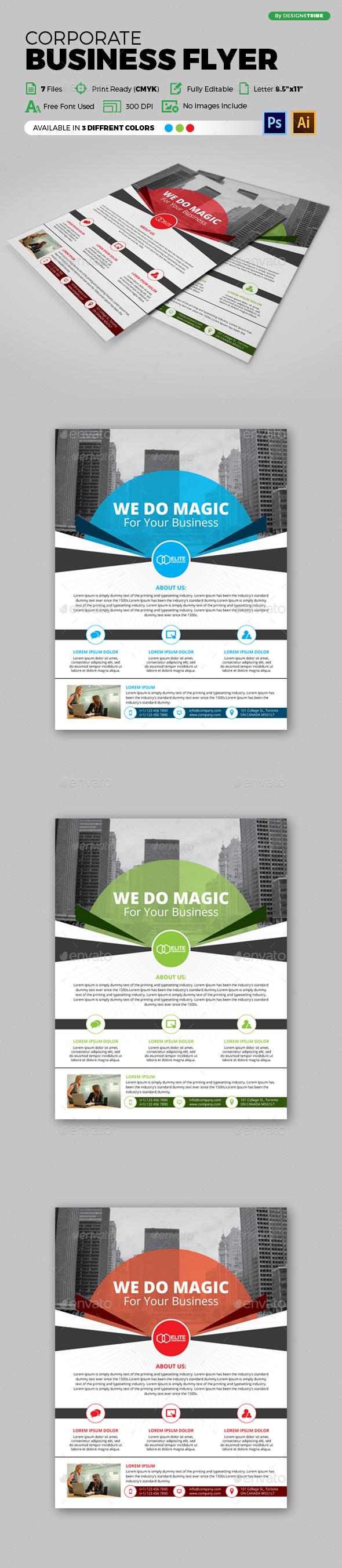 Flyer – Multipurpose 136 - Flyers Print Templates