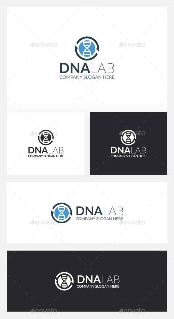DNA Logo - Vector Abstract