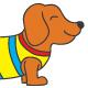 Dachshund Dog Funny Kids T-shirt Design - GraphicRiver Item for Sale
