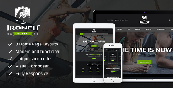 Ironfit – Fitness, Gym and Crossfit WP Theme