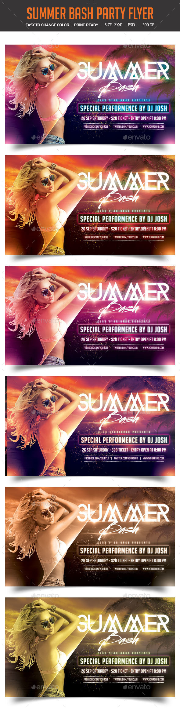 Summer Bash Party Flyer - Clubs & Parties Events
