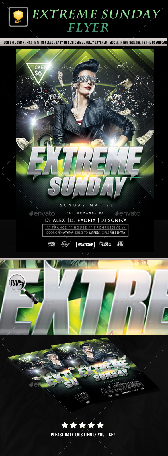 Extreme Sunday Flyer  - Clubs & Parties Events