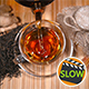 Pouring Tea With Scattered Tea, Honey, Ginger And Cinnamon - VideoHive Item for Sale