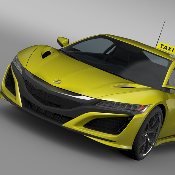 Acura NSX Taxi 2016 - 3DOcean Item for Sale