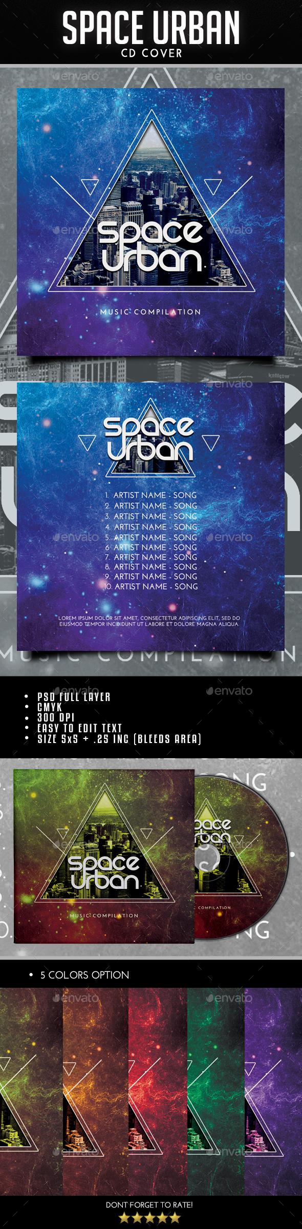 Space Urban CD Cover - CD & DVD Artwork Print Templates