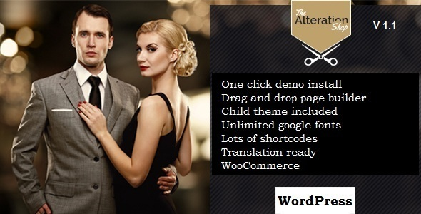Alteration Shop – WordPress WooCommerce Theme for Tailors and Shops