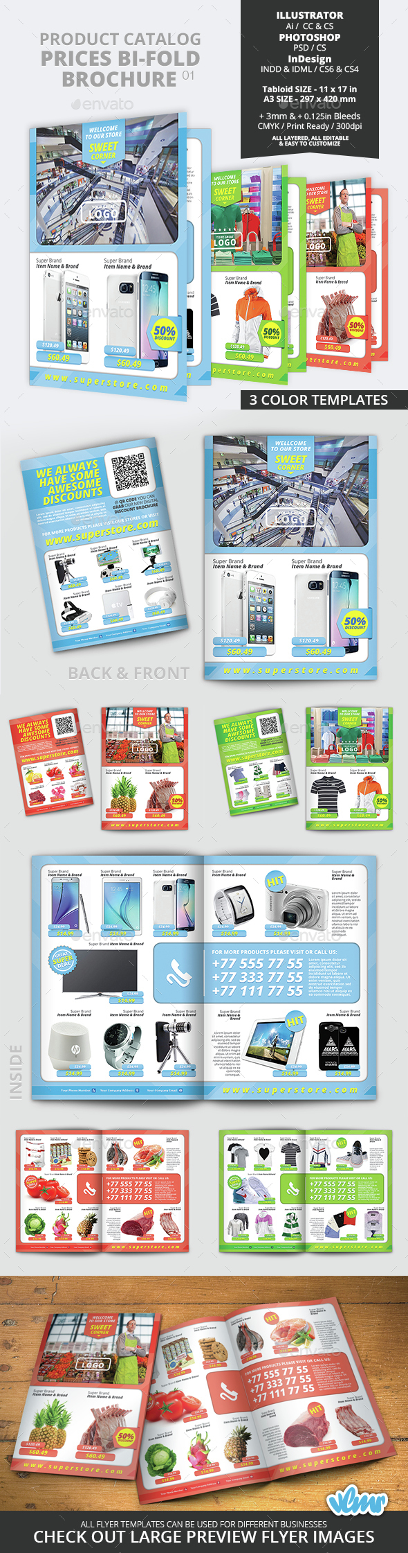 Product Catalog Prices Bi Fold Brochure 01 - Catalogs Brochures