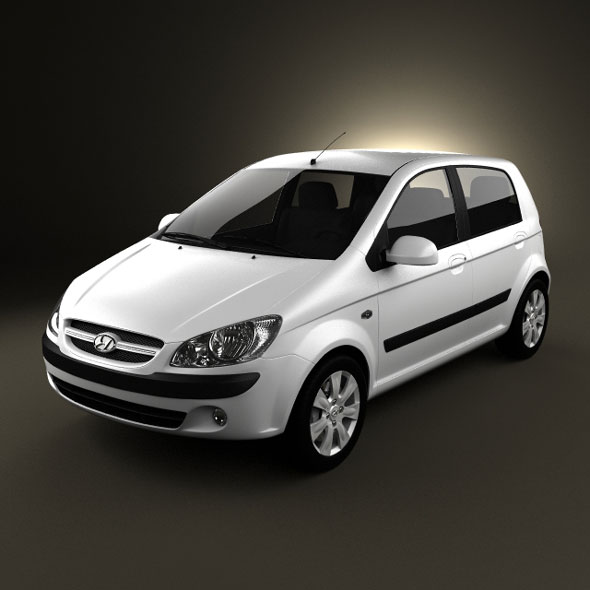 hyundai getz 2008 by humster3d 3docean. Black Bedroom Furniture Sets. Home Design Ideas