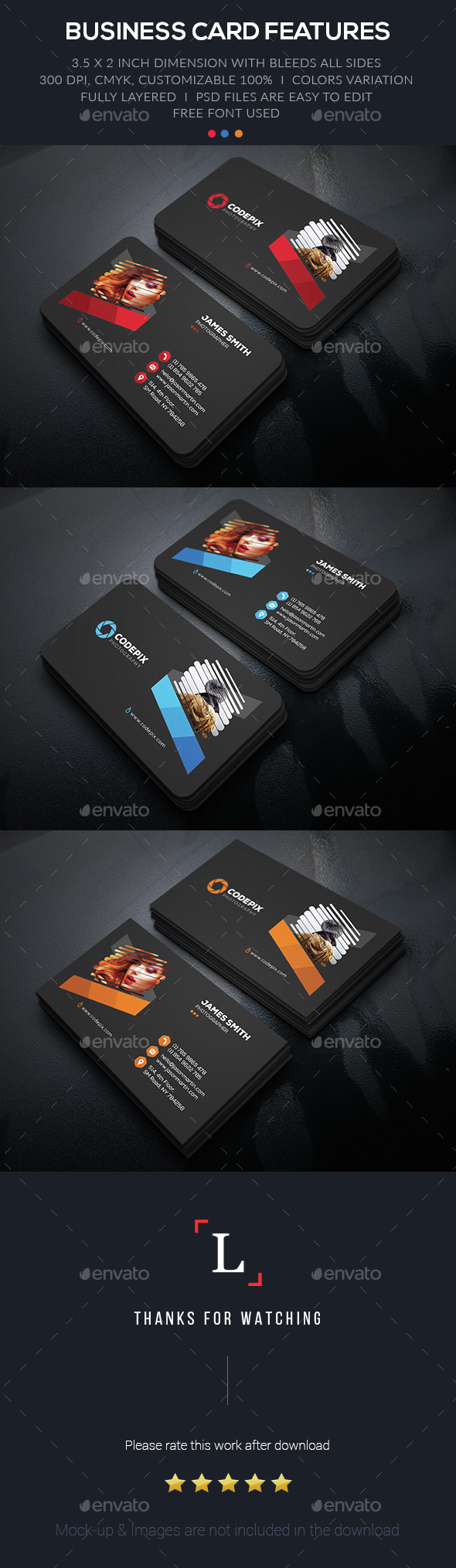 Creative Photography Business Card by UXcred | GraphicRiver