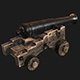 Naval Cannon (Game Ready) - 3DOcean Item for Sale