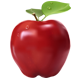 Realistic Red Apple - GraphicRiver Item for Sale