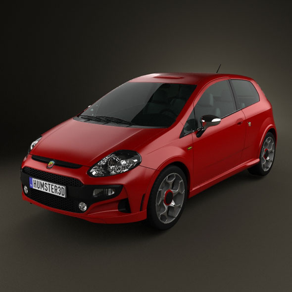 Fiat Punto Evo Abarth By Humster3d 3docean